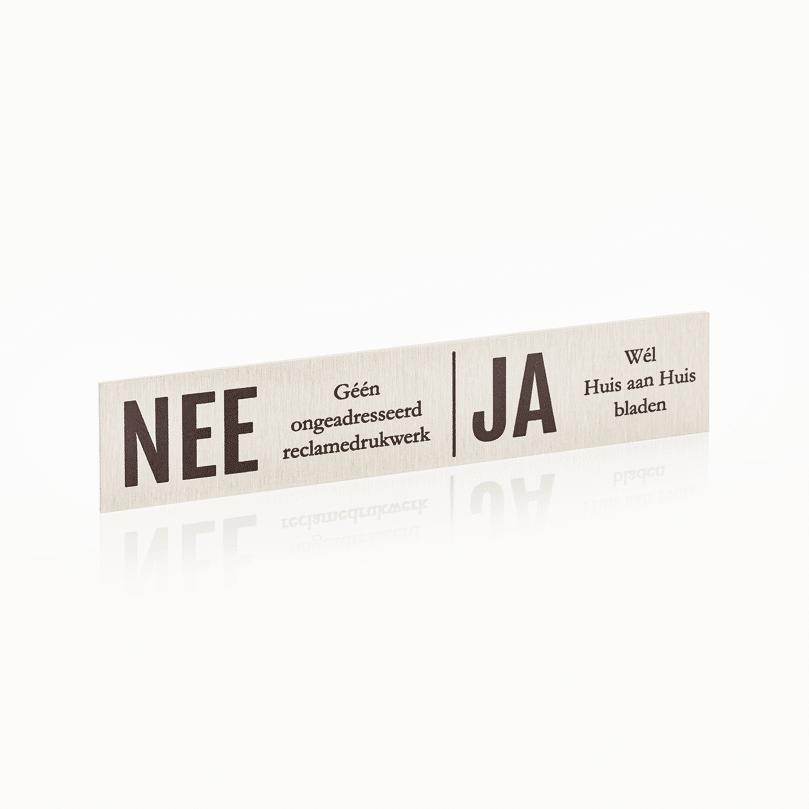 Brievenbusbordje NEE / JA 15 x 3 cm