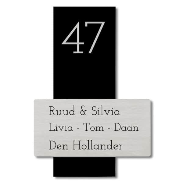 Naambord RVSlook – Plexiglas 22 x 8 cm /  15 x 7.5 cm