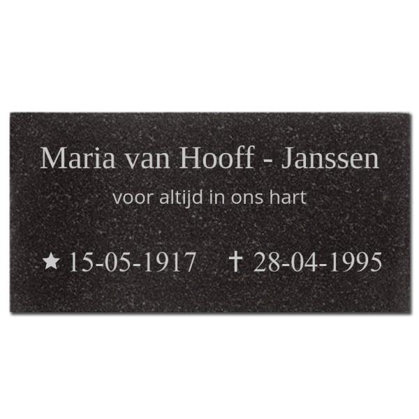 >Naambord Marmer 30 x 15 cm V01