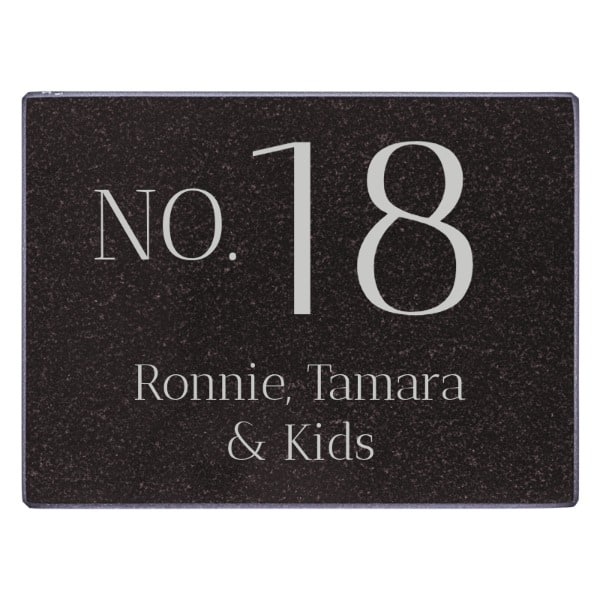 Naambord Marmer 20 x 15 cm V01