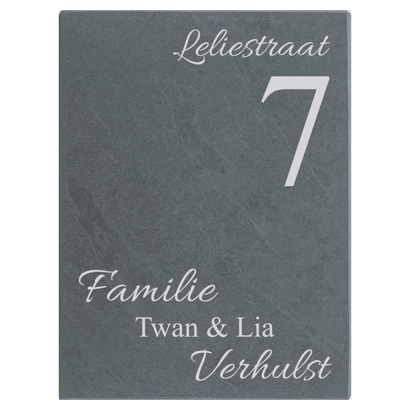 Naambord Leisteen 15 x 20 cm V01