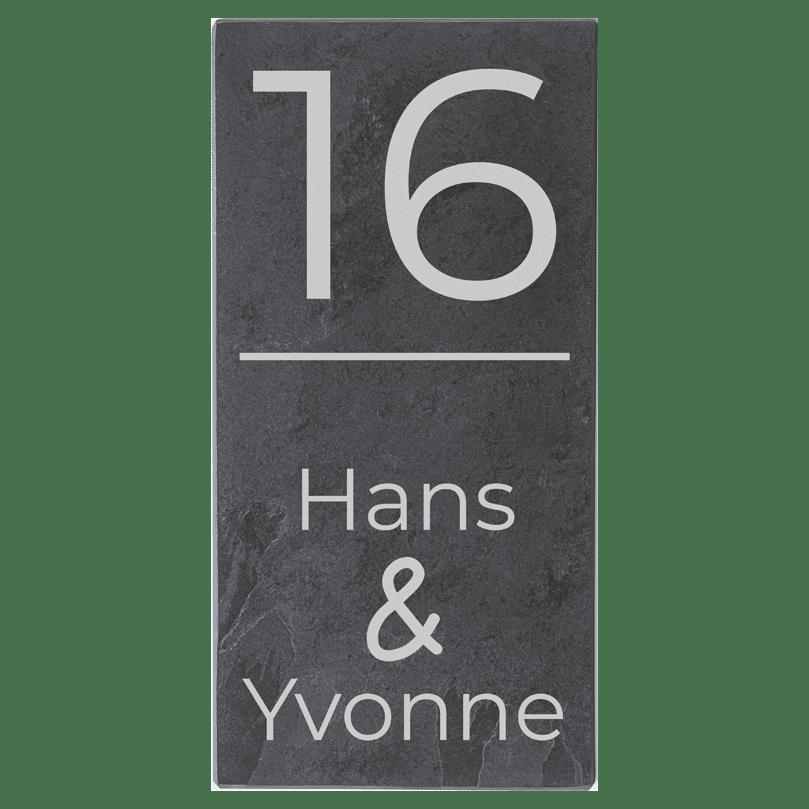 Naambord Leisteen 15 x 30 cm V01
