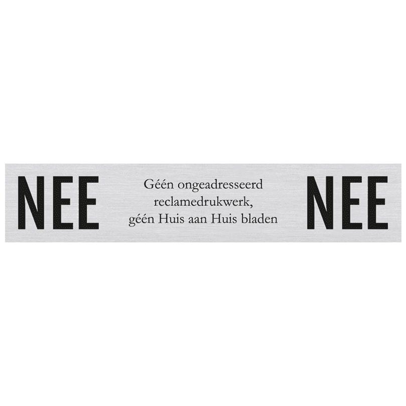 Brievenbusbordje NEE / NEE 15 x 3 cm