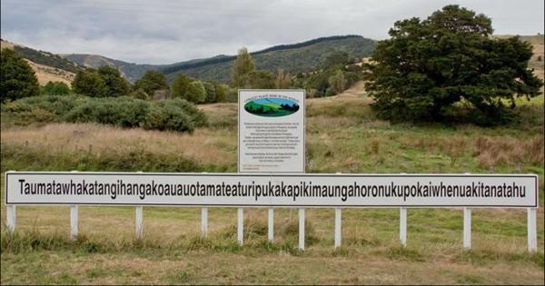 Het langste naambord in de wereld vind je in…