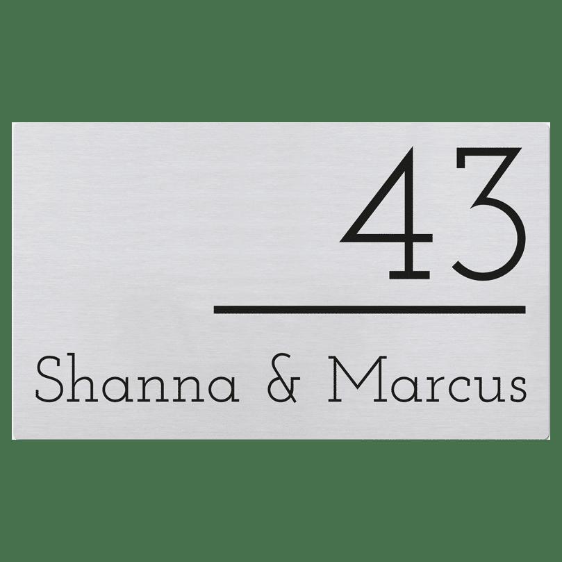 Naambord RVS 22 x 13 cm V01