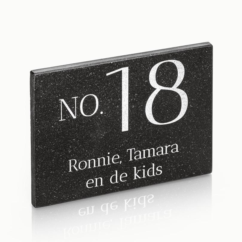 >Naambord Marmer 20 x 15 cm V01