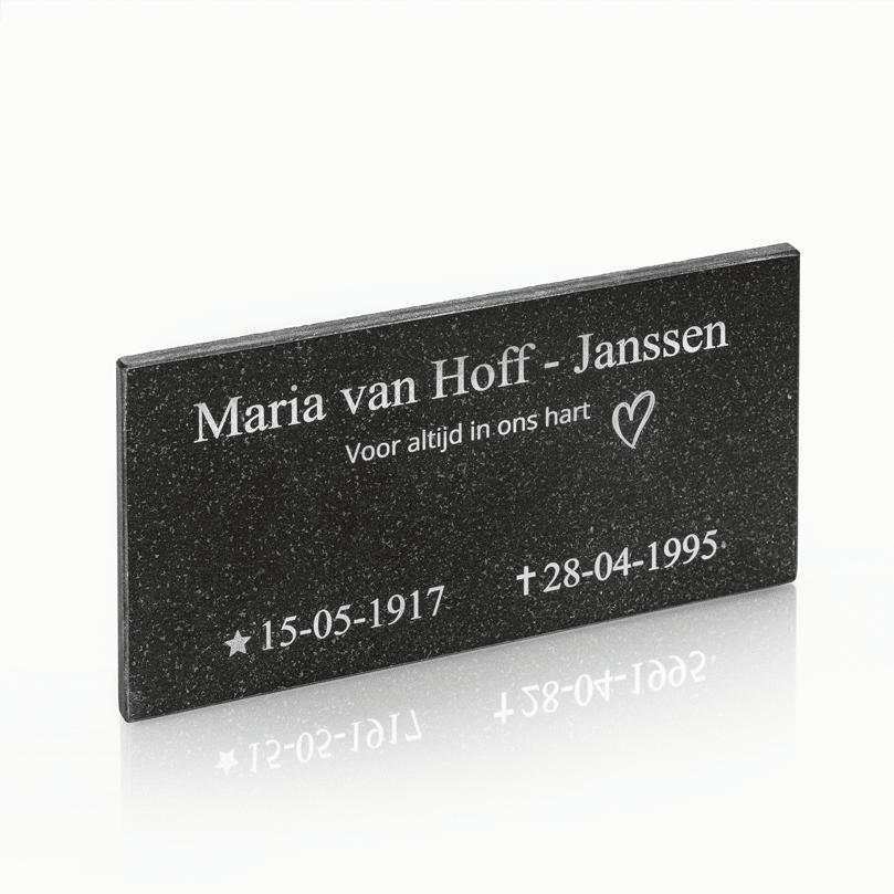 Naambord Marmer 30 x 15 cm V01