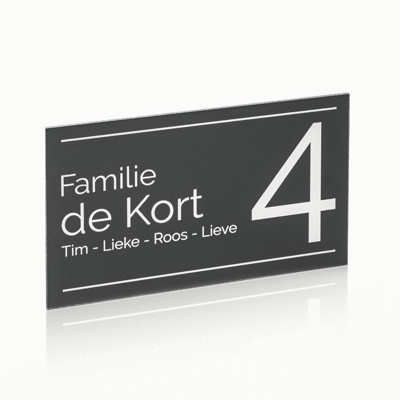 Naambord Plexiglas 22 x 13 cm