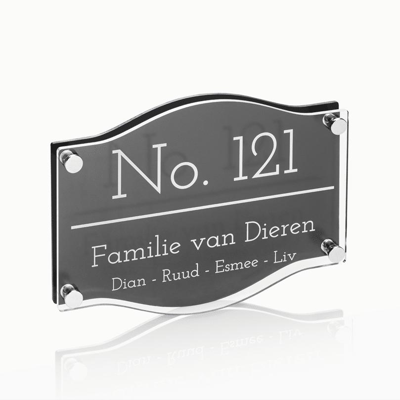 Naambord Plexiglas – Plexiglas 22 x 16 cm