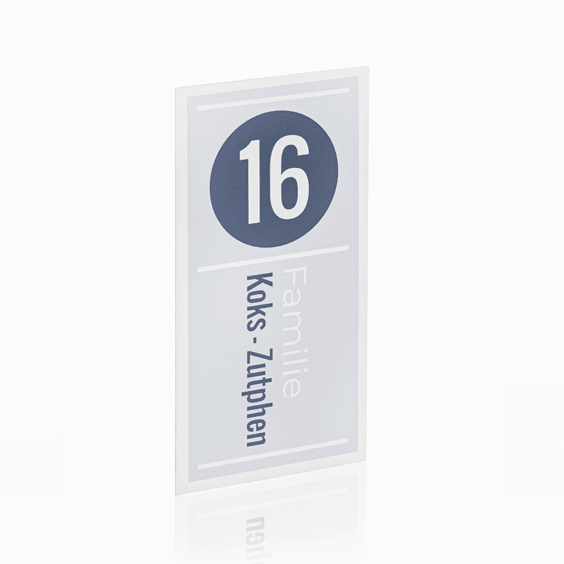 Naambord Wit Alu 10 x 20 cm V01